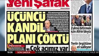 """""""Üçüncü Kandil Planı Çöktü"""" #GününManşeti Yeni Şafak Gazetesi"""
