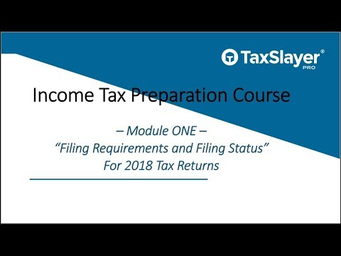 Filing Status and Filing Requirements for Tax Returns - YouTube