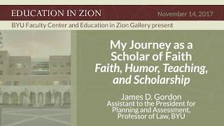 Jim Gordon, Faith, Humor, Teaching, And Scholarship