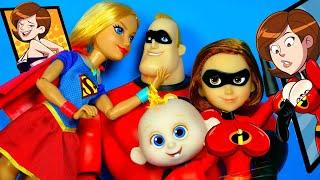 ЖЕНА НА ЗАДАНИИ, МУЖ ИЗМЕНЯЕТ?! СУПЕРСЕМЕЙКА КУКЛЫ ОБЗОР #INCREDIBLES 2 Disney Pixar