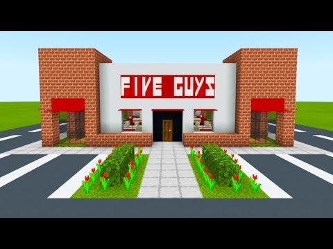 "Minecraft Tutorial: How To Make A Five Guys Restaurant ""2019 City Tutorial"""