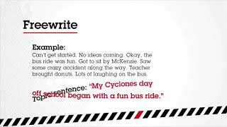 Cyclones 2018 Field Trip Day - Pre-writing