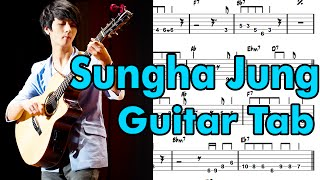 (Sungha Jung)Learn How To Play Let Her Go Fingerstyle Acoustic Guitar Lesson TABS(Passenger)