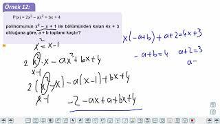 Eğitim Vadisi TYT Matematik 45.Föy Polinomlarda Bölme Konu Anlatım Videoları
