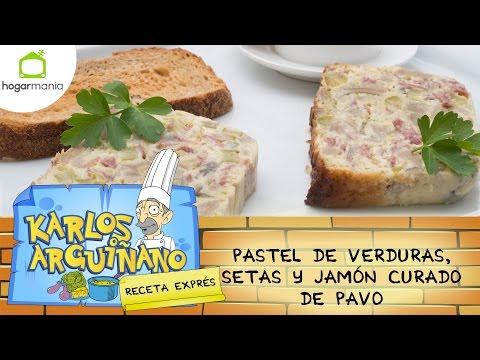 Receta de Pastel de verduras y setas por Karlos Arguiñano