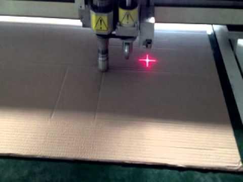 carton package box tray oscillation cutting plotter machine