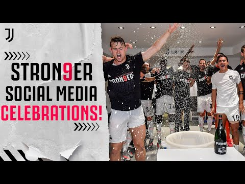 📱🎉 How the Juventus Players Celebrated on Social Media! | #Stron9er