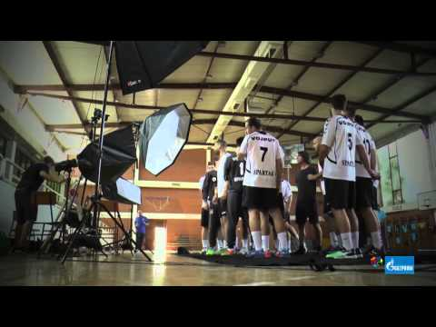 [Behind the scenes] Spartak Vojput's SEHA - GAZPROM LEAGUE photo shoot