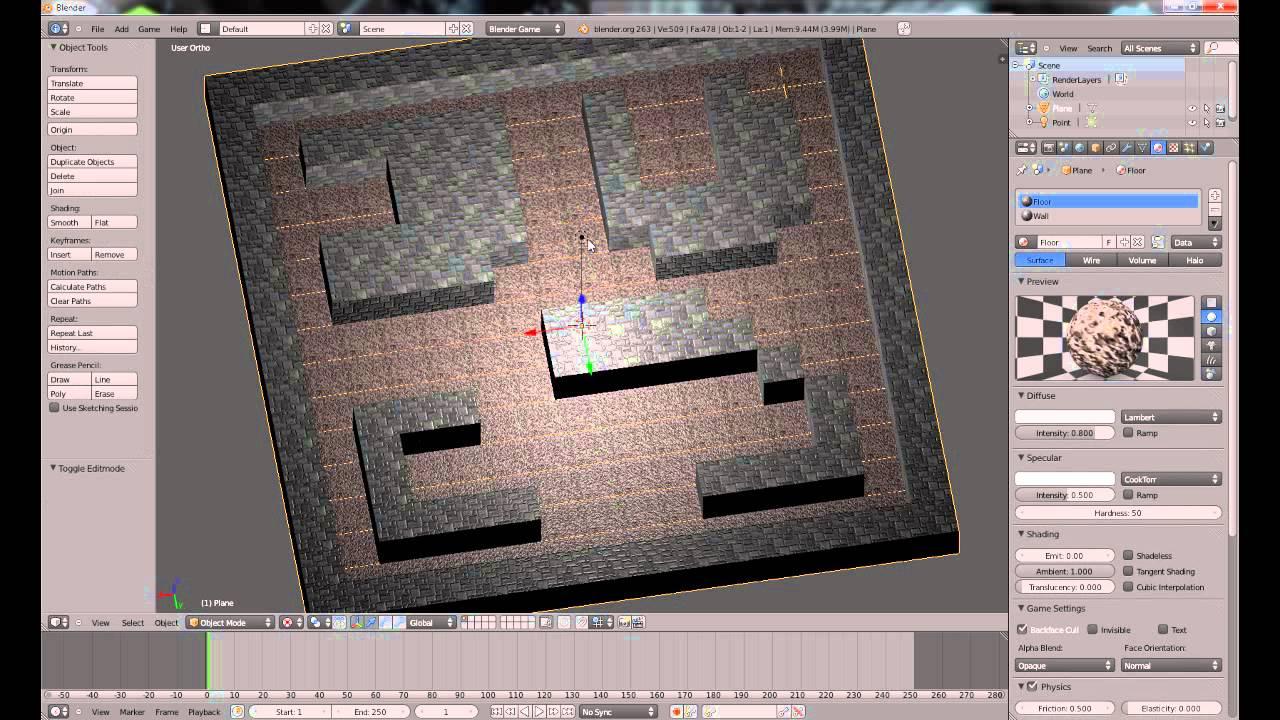 La création de jeux vidéo avec Blender Game Engine - 1