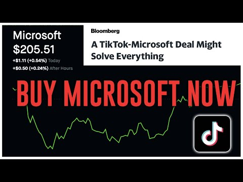 TIKTOK BANNED?!? MICROSOFT BUYING TIKTOK?!? || STOCKS TO BUY RIGHT NOW