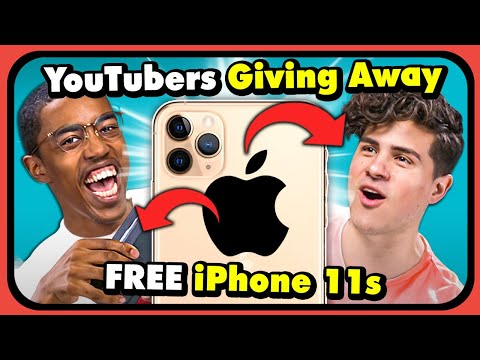 YouTubers React To YouTubers Giving The iPhone 11 To Strangers For Free