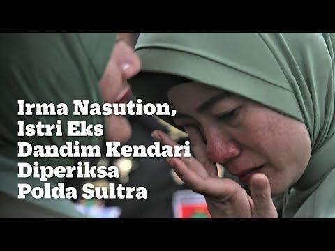 Irma Nasution, Istri Eks Dandim Kendari Diperiksa Polda Sultra