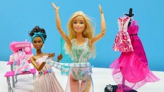 El estudio de Barbie. Muñecas divertidas. Vídeos para niñas.