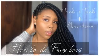 How To: Faux Locs Using Marley Hair ( Beginner Friendly!!)