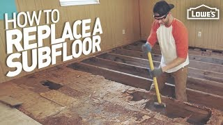 How To Remove And Replace A Rotten Subfloor