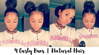 "<center><p>4 Bun Styles for Curly Hair</p></center>"" />             </div>   </div>   <div class="