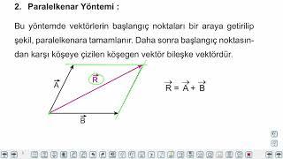 Eğitim Vadisi AYT Fizik 1.Föy Vektörler - Bağıl Hareket Konu Anlatım Videoları