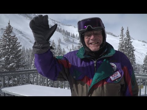 101-Year-Old Skier Still Going Strong