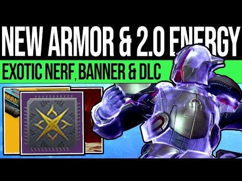 Destiny 2 | DLC ARMOR INFO & ENERGY TIERS! New Unlocks, Fall Mods, Exotic Nerf, Banner & Cheese Fix!