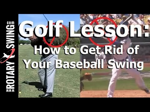 Golf Lesson: Fix Your Baseball Swing and Flying Elbow