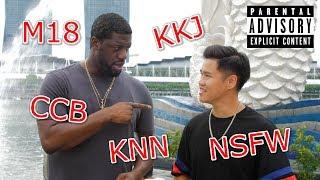 An American using Singapore Vulgarities on locals (Prank)|18+ NSFW