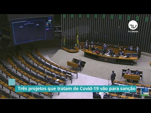 Três projetos que tratam de Covid-19 vão para sanção - 09/06/20