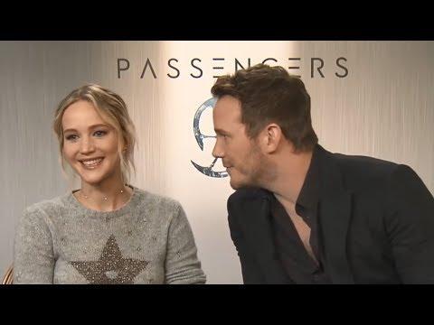 Chris Pratt Shows Affection for Jennifer Lawrence