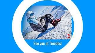 preview picture of video 'Troodos Skiing Ski Cyprus : Sled Dogs Snowskates'