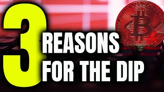 3 REASONS Why Bitcoin and Crypto Dipped // What To Do???