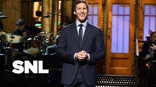 Andy Samberg Impressions Monologue - Saturday Night Live - dooclip.me