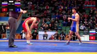 Ярыгин - 2016. 61 кг. Виктор Лебедев - Имам Аджиев. 1/8 финала