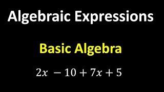 Algebraic Expressions – Algebra Basics