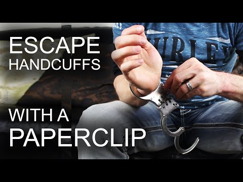 This Video Shows You How To Escape Handcuffs Using Only A Paperclip