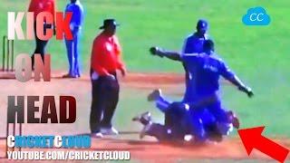 KICK ON HEAD - Worst Fight in the Cricket History !!