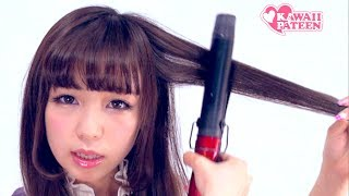 Kawaii CURLY & FLUFFY HAIRSTYLE TUTORIAL How-to By Japanese Fashion Model|皆方由衣ロリータヘアアレンジ