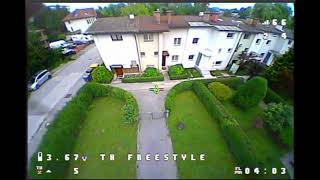 Small Garden Practice - EMAX Tinyhawk Freestyle - Beginner Learning Acro FPV Drone Flying