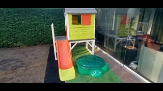 Smoby Spielhaus und Little Tikes Sandkasten - Eine Gestaltungsidee für den Garten - Kinder