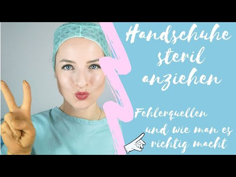 Handschuhe richtig steril anziehen + Fehlerquellen   franzis Stories
