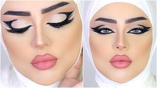 Double Winged Liner - White Swan Makeup Look |MARWA YEHIA| دبل وينج ايلاينر ـ مكياج جرئ ـ مروة يحيي