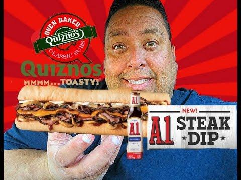 Quiznos® New A.1 Steak Dip Sandwich REVIEW!