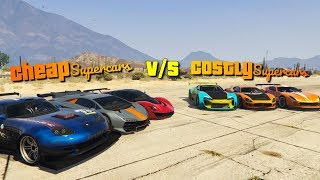GTA V Online Cheap vs Expensive Supecars   which is fastest car