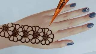 Easy Mehndi Designs For Back Hands - Beautiful And Simple Henna Designs