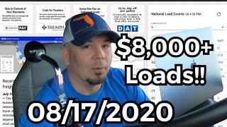 $8,000 Freight loads!!! | Spot Market on FIRE!! DAT TruckersEdge Pro