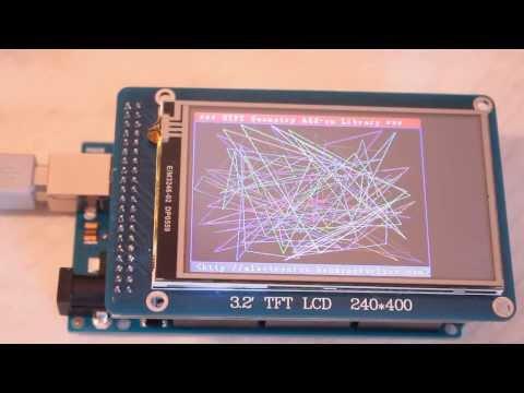 "3.2"" WD TFT дисплей (400 * 240) с touch screen для Arduino. Тест - UTFT Geometry Demo 320x240"
