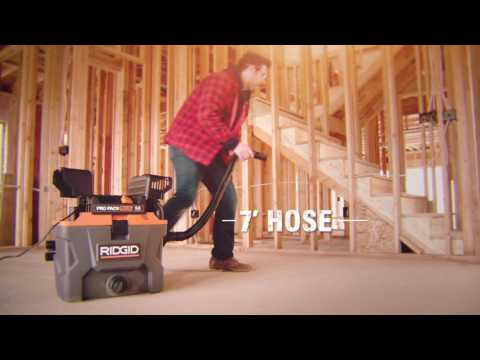 RIDGID WD1022 10 Gallon Pro Pack Plus Wet Dry Vac