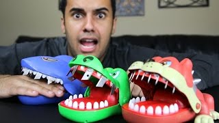EXTREME CROCODILE DENTIST CHALLENGE!! RAZORS, TACKS, AND NAILS!! *INSANELY DANGEROUS*