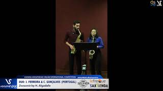 DUO J. FERREIRA & C. GONÇALVES play Zoosonie by H. Algadate #adolphesax