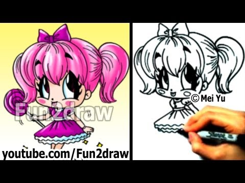 How to Draw a Chibi Candy Girl - Draw People - Drawing Lessons - Fun2draw