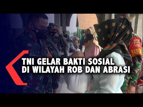 TNI Gelar Bakti Sosial di Wilayah Rob dan Abrasi