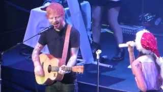 "Ed Sheeran & Christina Perri ""Be My Forever"" Live at Alice In Winterland 2014"